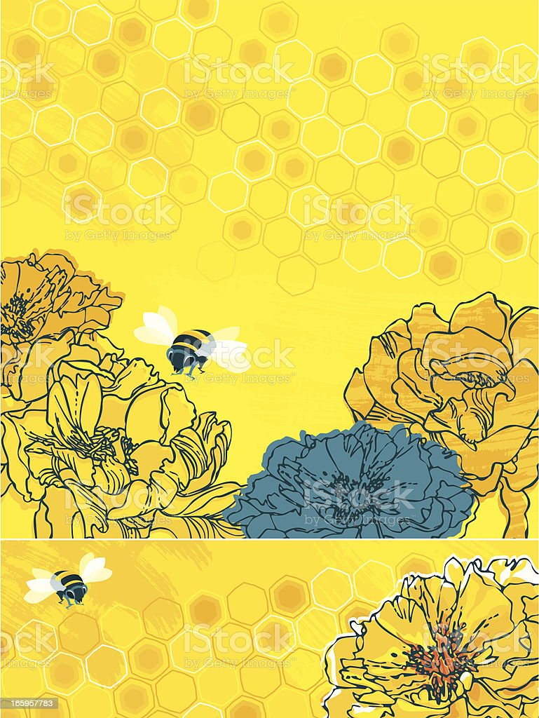 Summer Bees (Set of Banners) royalty-free stock vector art