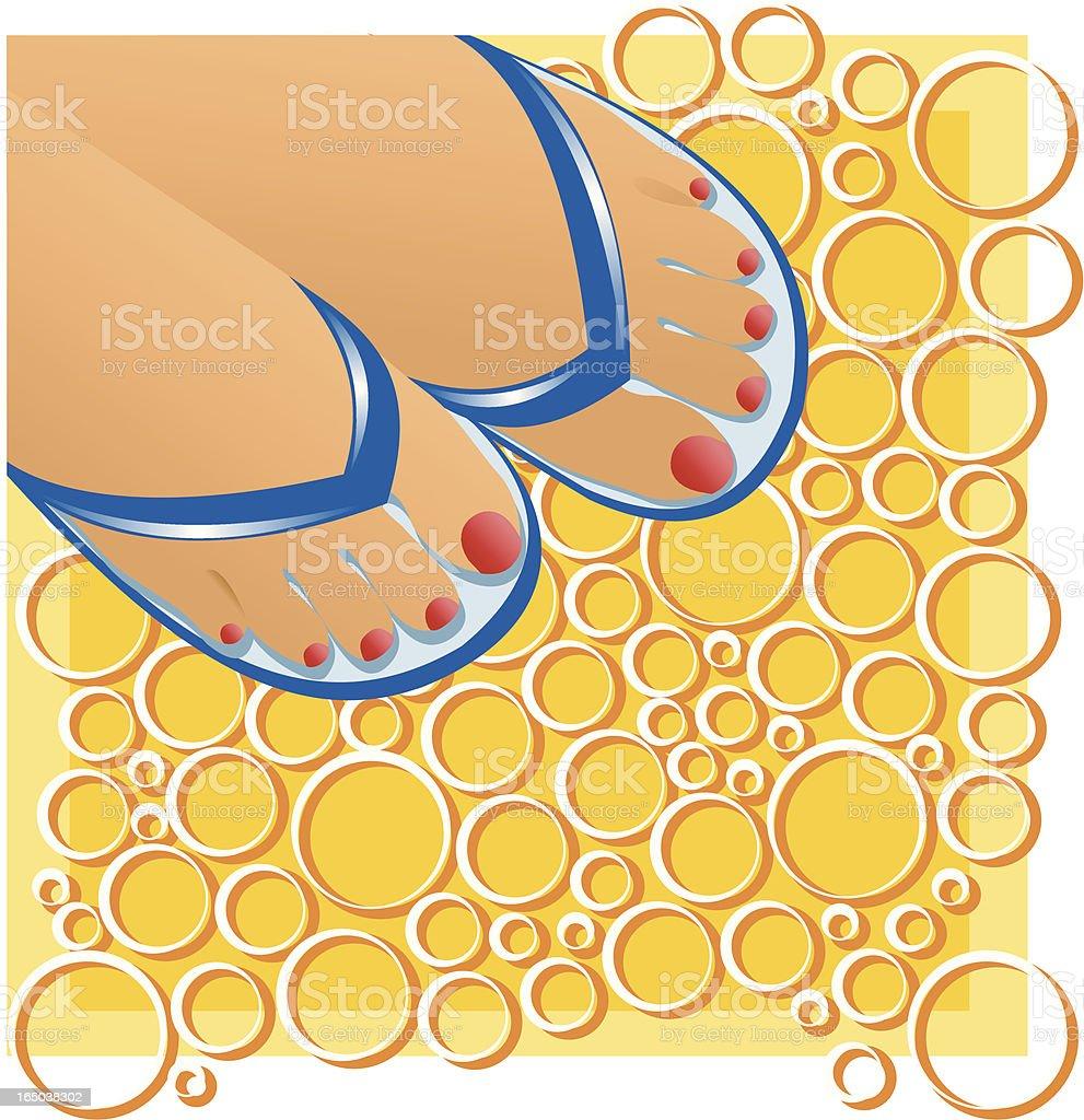 Summer feet royalty-free stock vector art