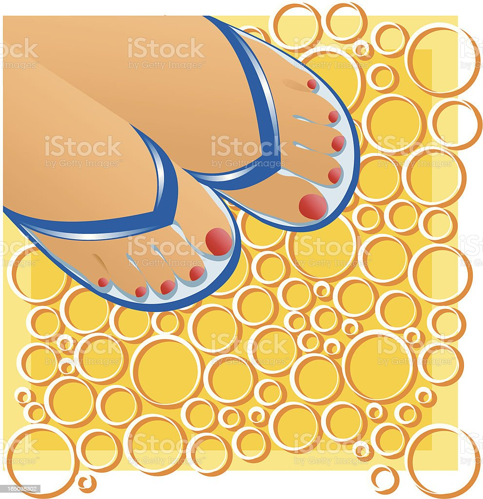 Summer feet vector art illustration