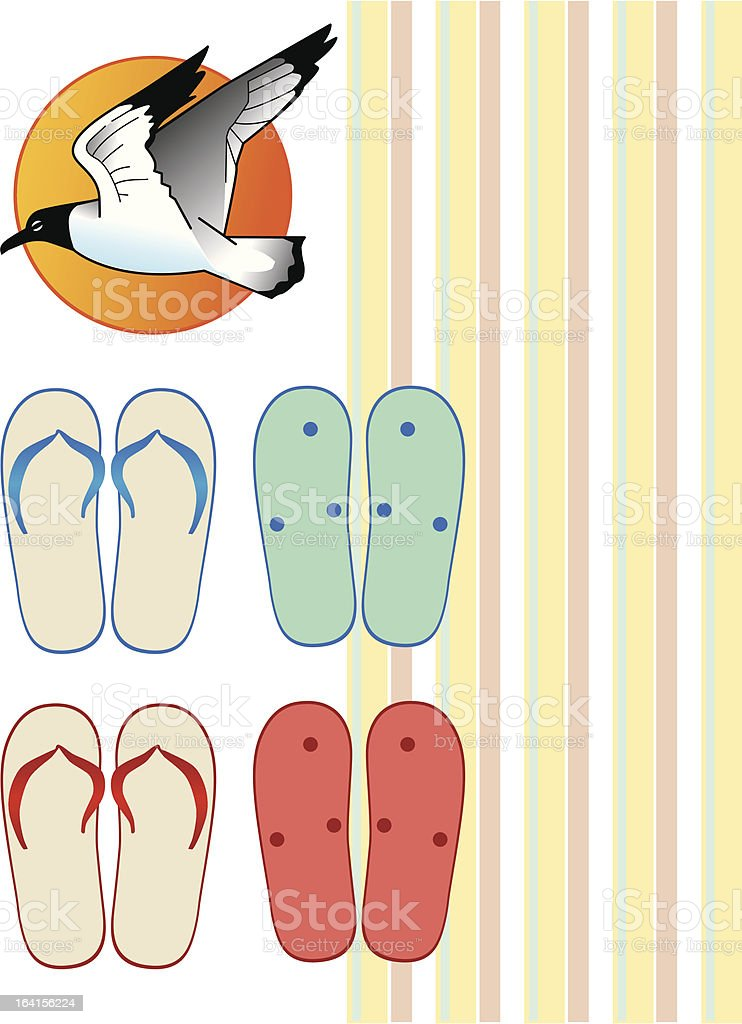 Summer Icons - flip flops royalty-free stock vector art