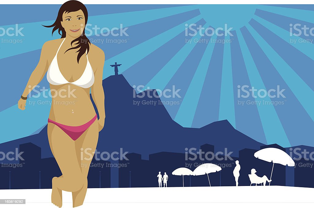 Summer in Rio royalty-free stock vector art