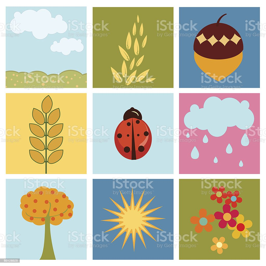 summer pictures royalty-free stock vector art