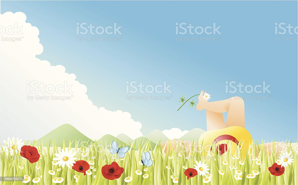 Summer pleasure royalty-free stock vector art
