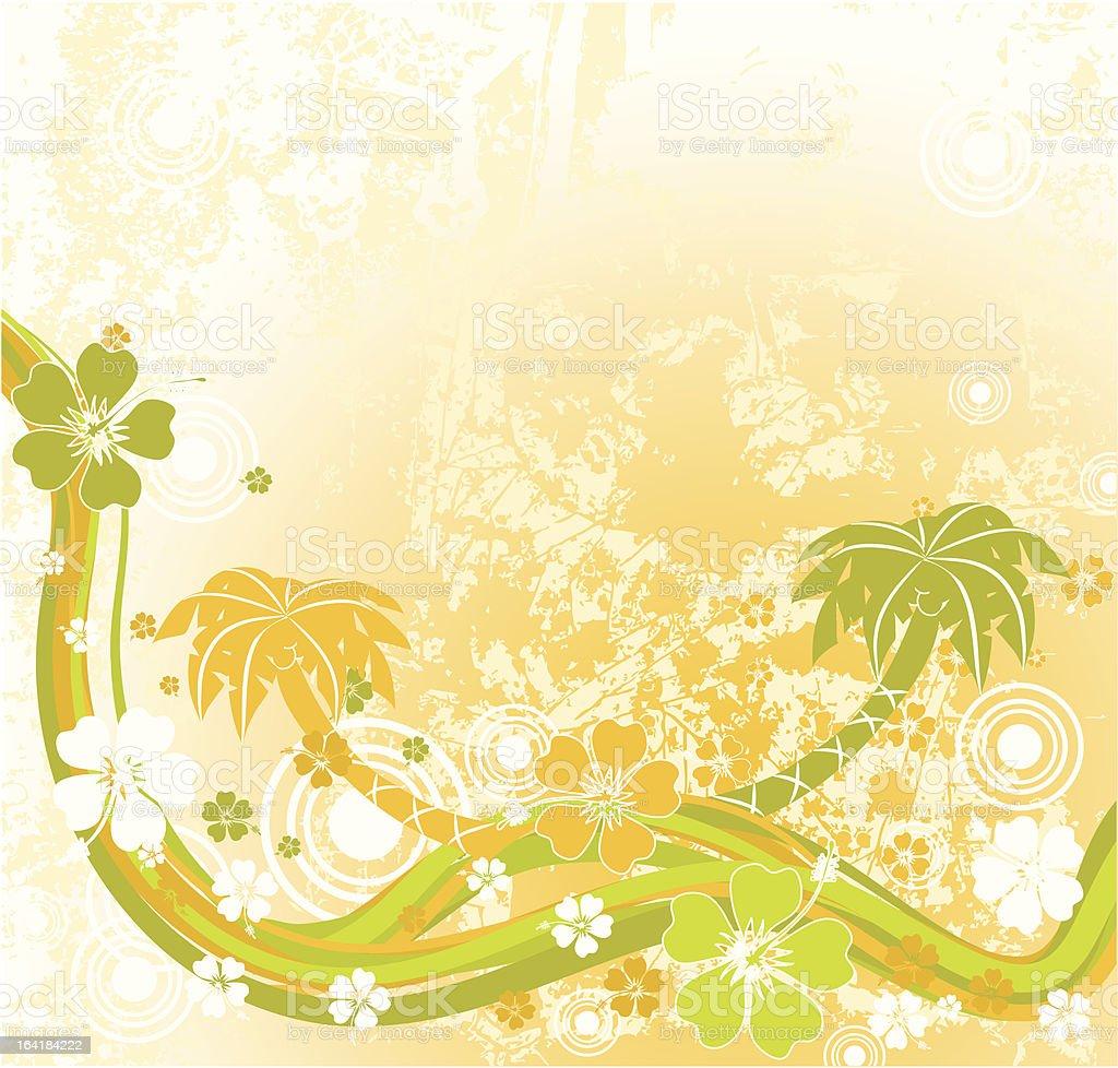 Summer scene vector art illustration