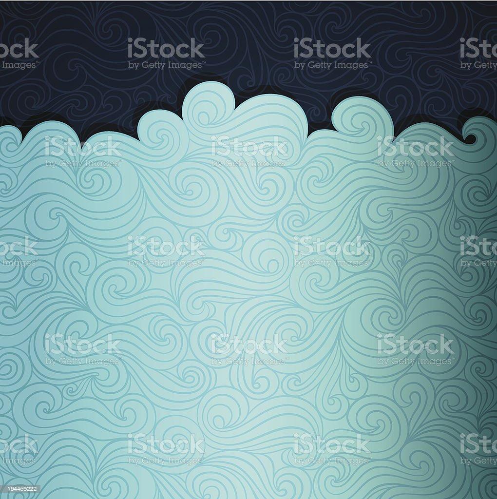 Summer Sea Background royalty-free stock vector art