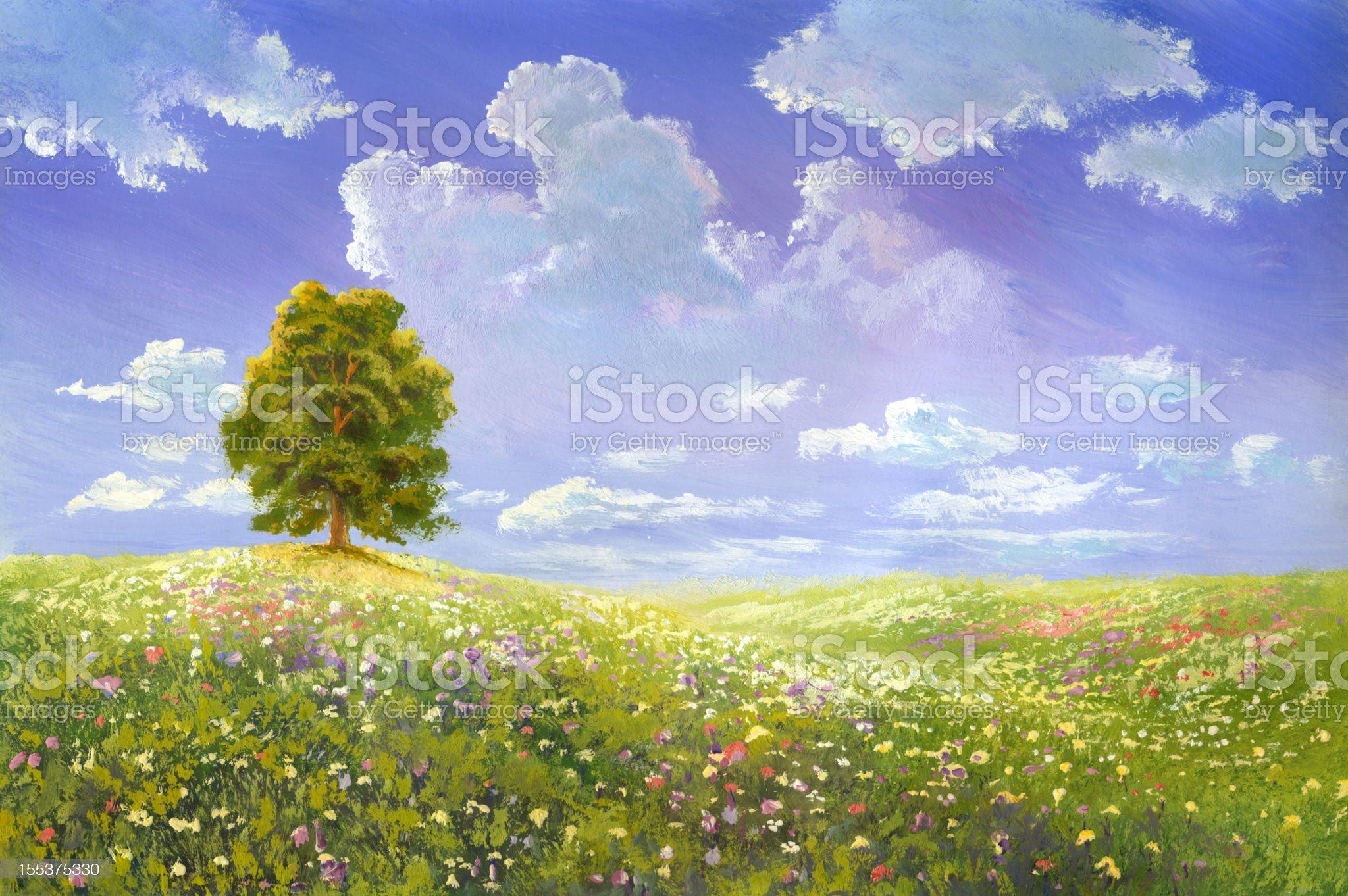 summer tree royalty-free stock vector art