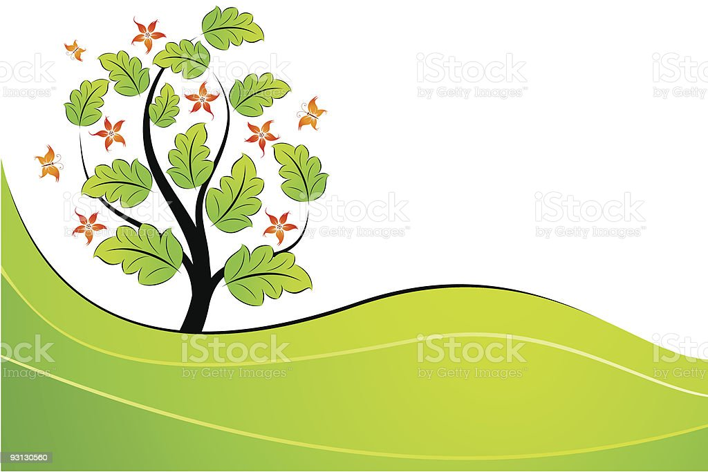 Summer tree royalty-free stock vector art
