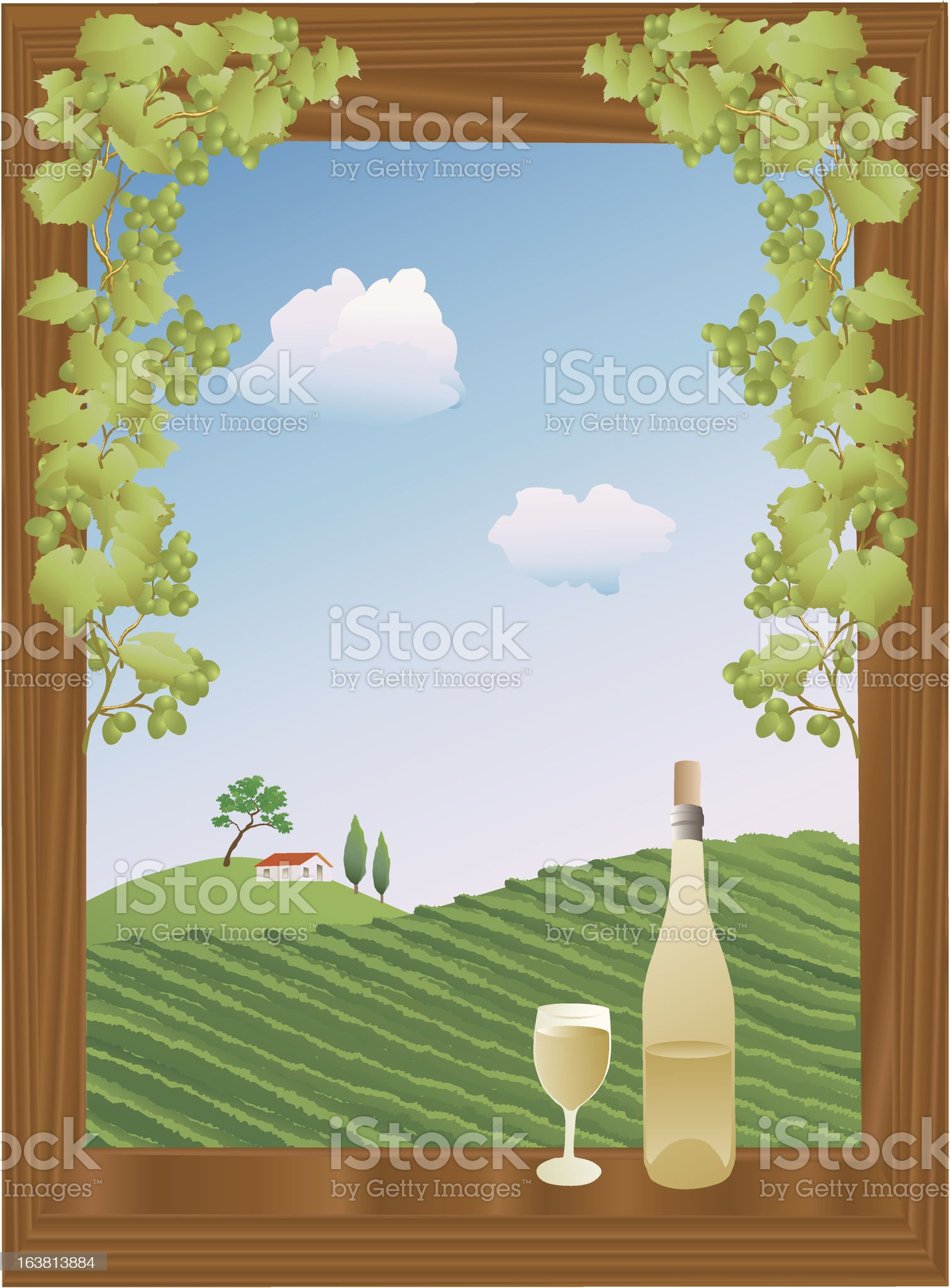 summer vineyard royalty-free stock vector art