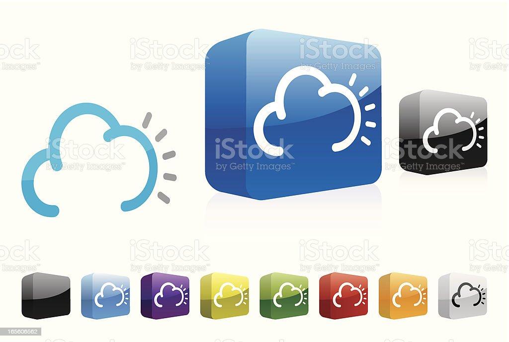 Sun & Cloud - 3D Collection vector art illustration