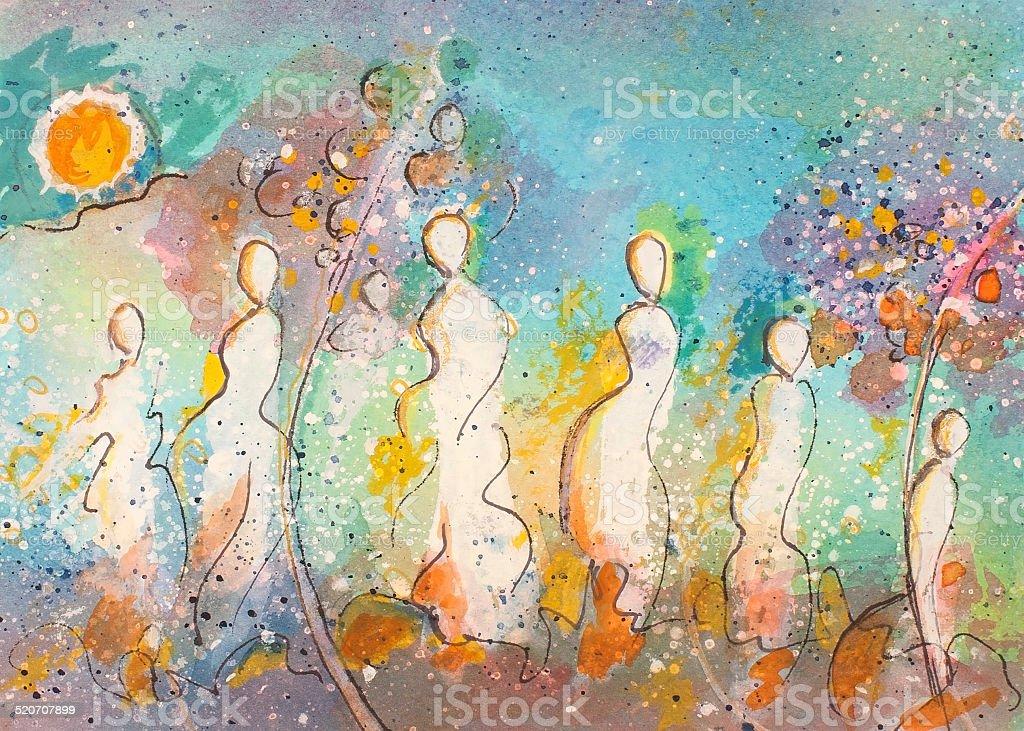 Sol de baile illustracion libre de derechos libre de derechos