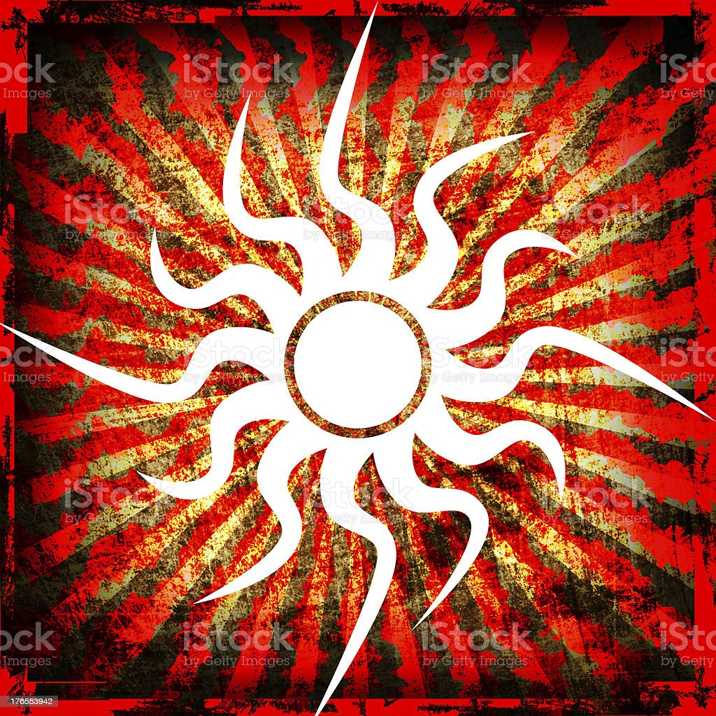 Sun grunge background royalty-free stock vector art