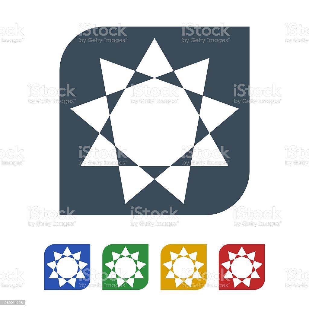 Sun icon isolated on white background vector art illustration