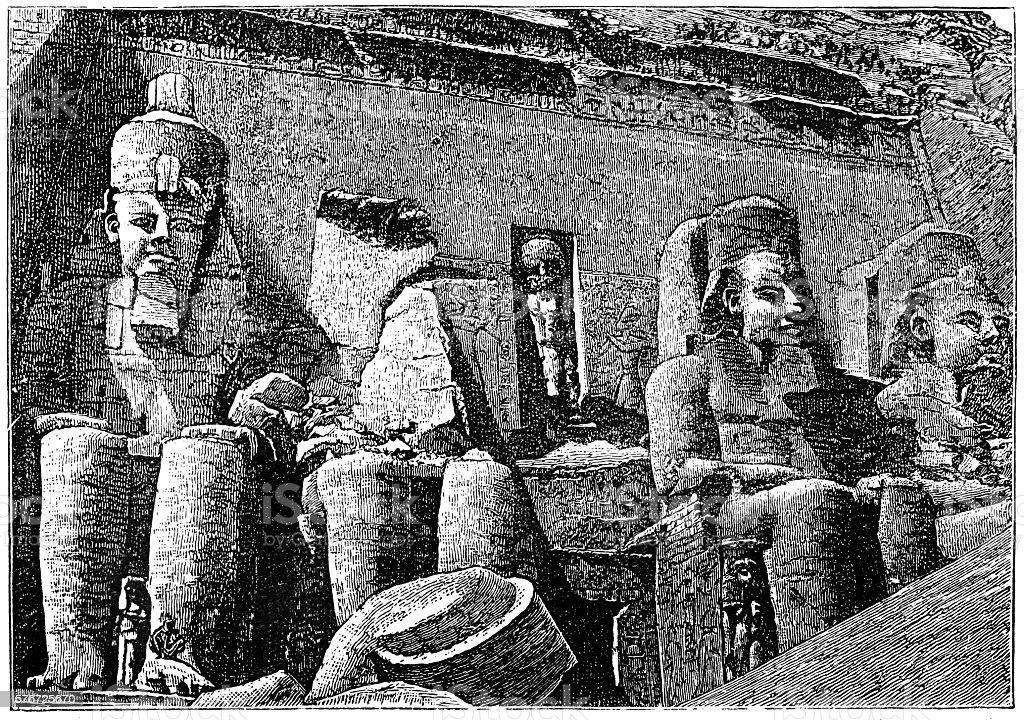Sun Temple of Abu Simbel vector art illustration