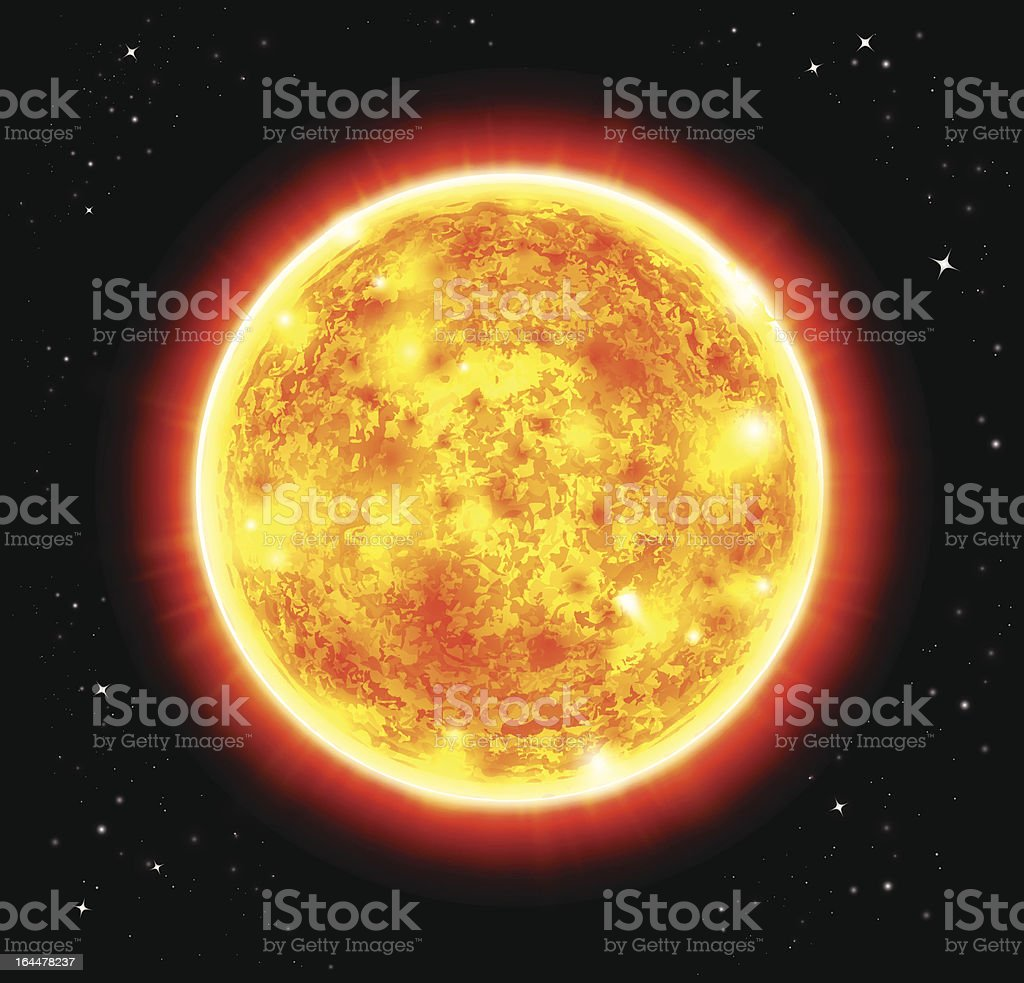 Sun vector illustration royalty-free stock vector art