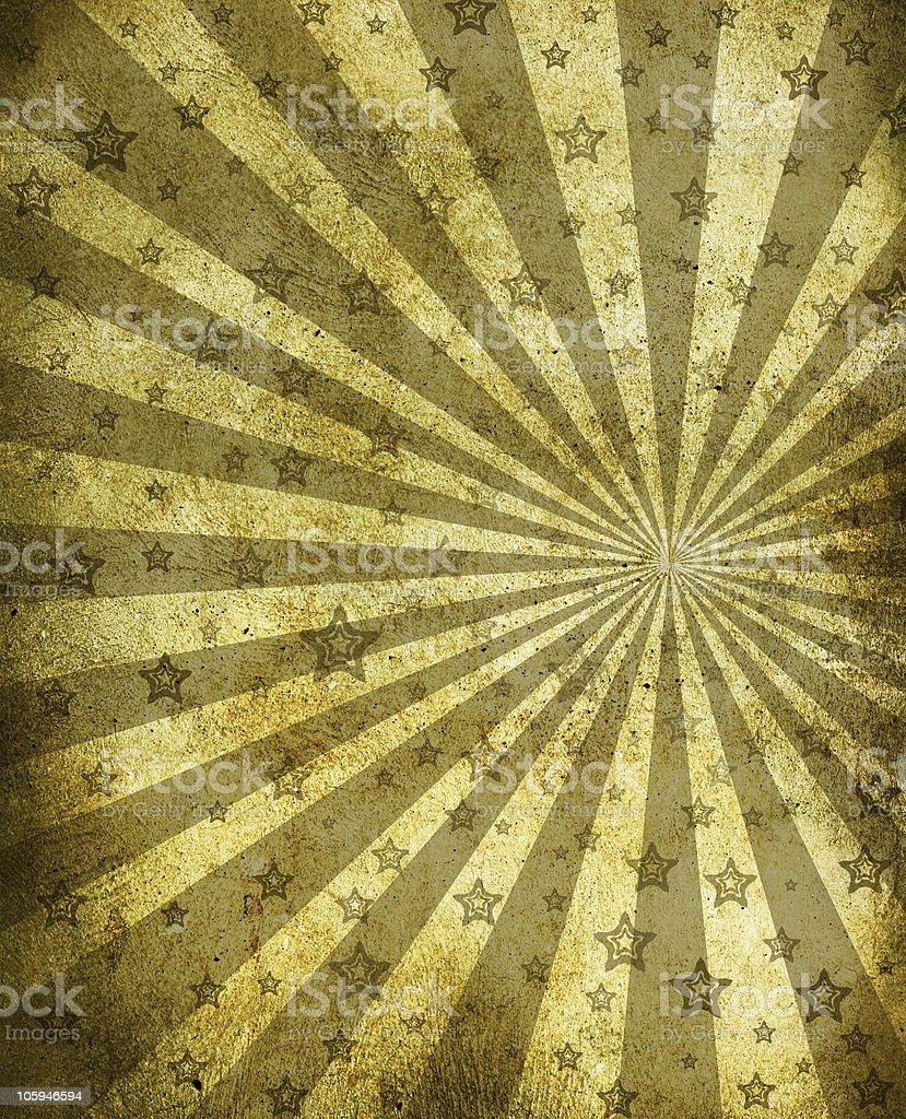 Sunbeam and stars vector art illustration