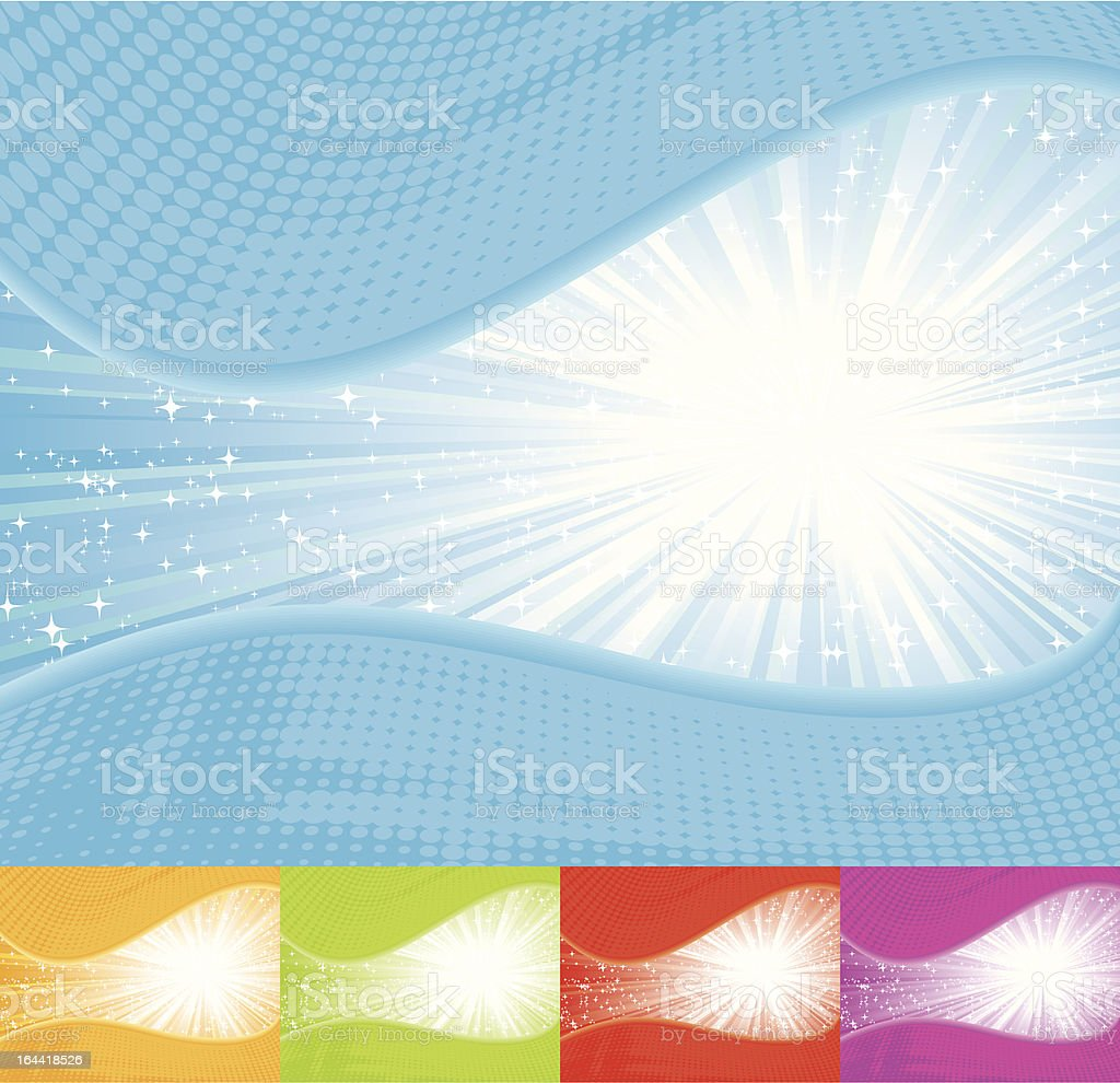 Sunbeam Backgrounds royalty-free stock vector art