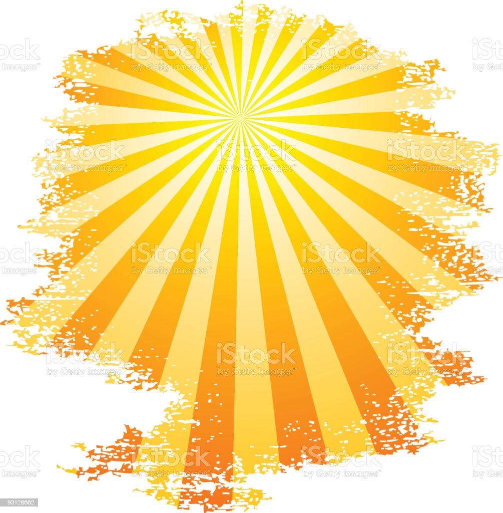 Sunbeams. royalty-free stock vector art