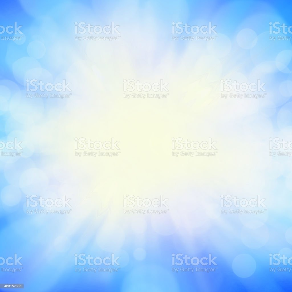 Sunburst Background image - square vector art illustration