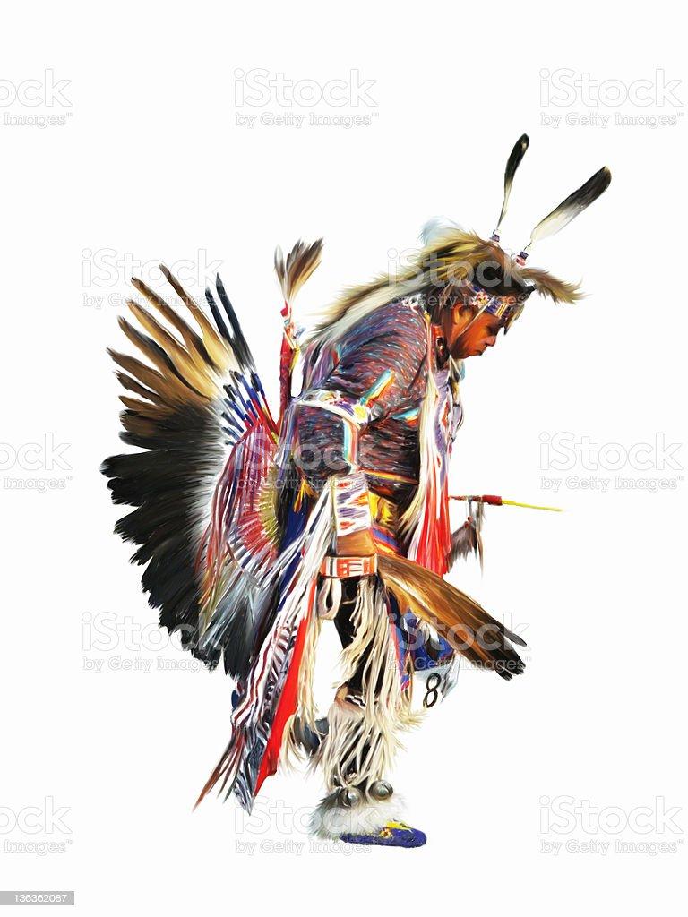 Sundancer - Digital Painting vector art illustration