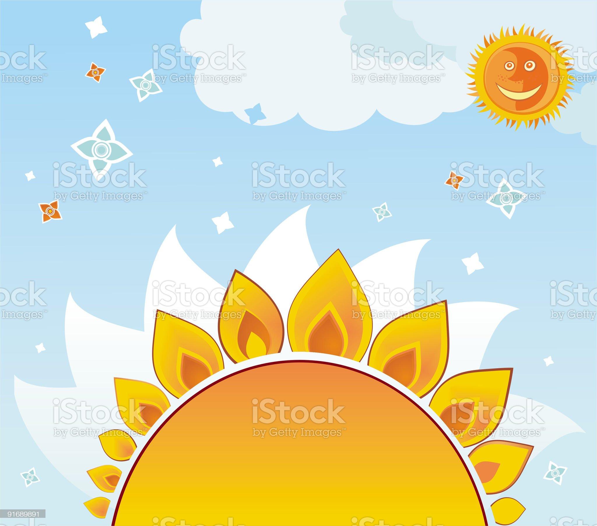 Sunflower background. royalty-free stock vector art