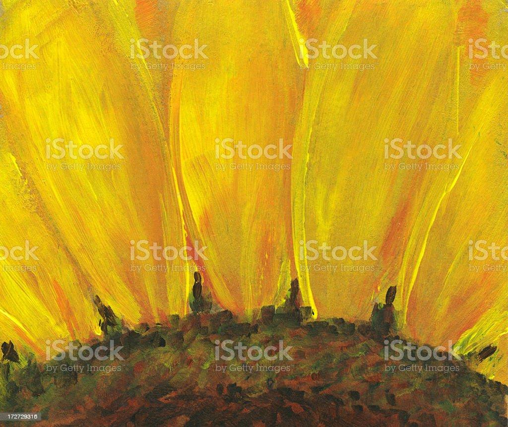 Sonnenblume-Detail Lizenzfreies vektor illustration