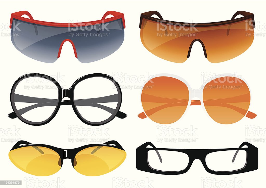 Sunglasses set royalty-free stock vector art