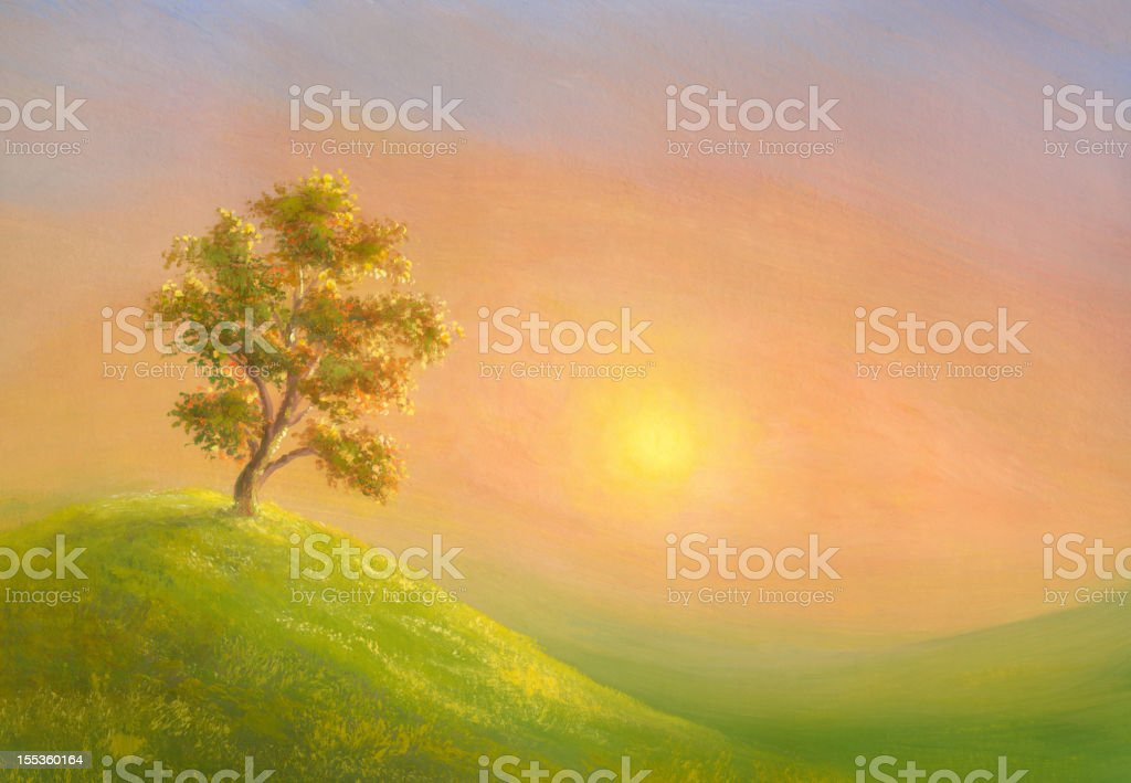 Sunny valley royalty-free stock vector art