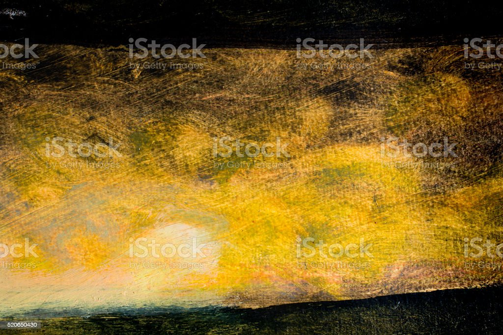 Sunrise in black burned landscape vector art illustration