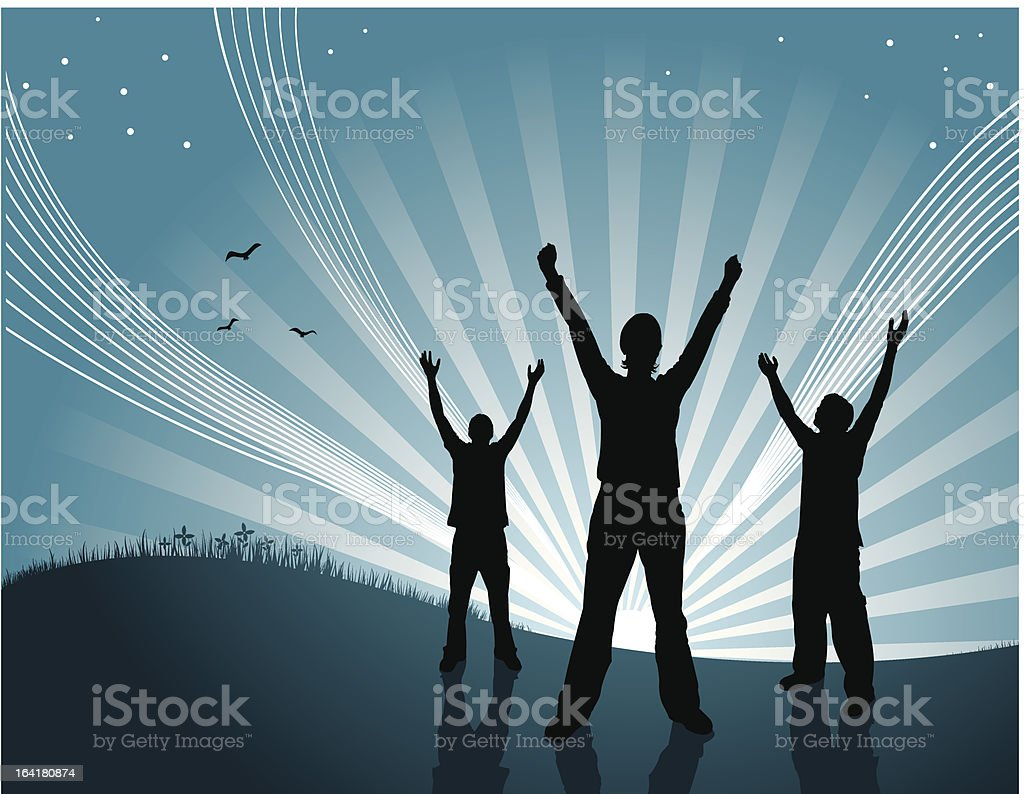 Sunset Celebration royalty-free stock vector art