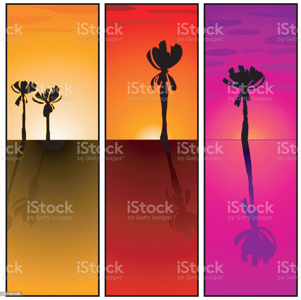 Sunset Tablets royalty-free stock vector art