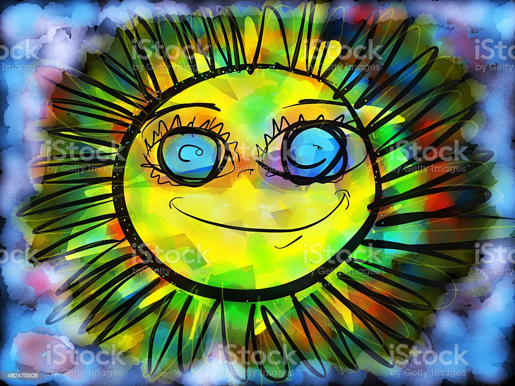 Sunshine royalty-free stock vector art