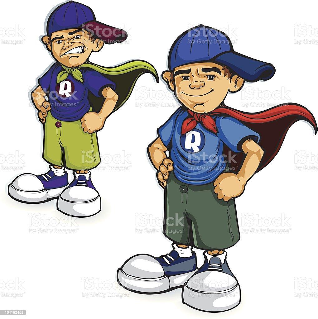 Super Boy royalty-free stock vector art