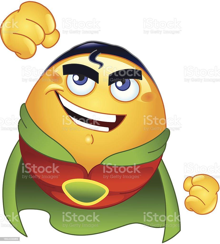 Super hero emoticon royalty-free stock vector art