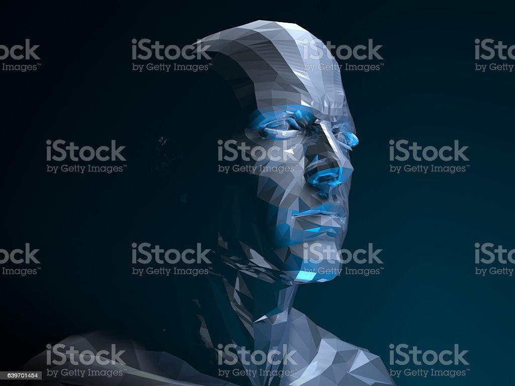Super Hero Face vector art illustration