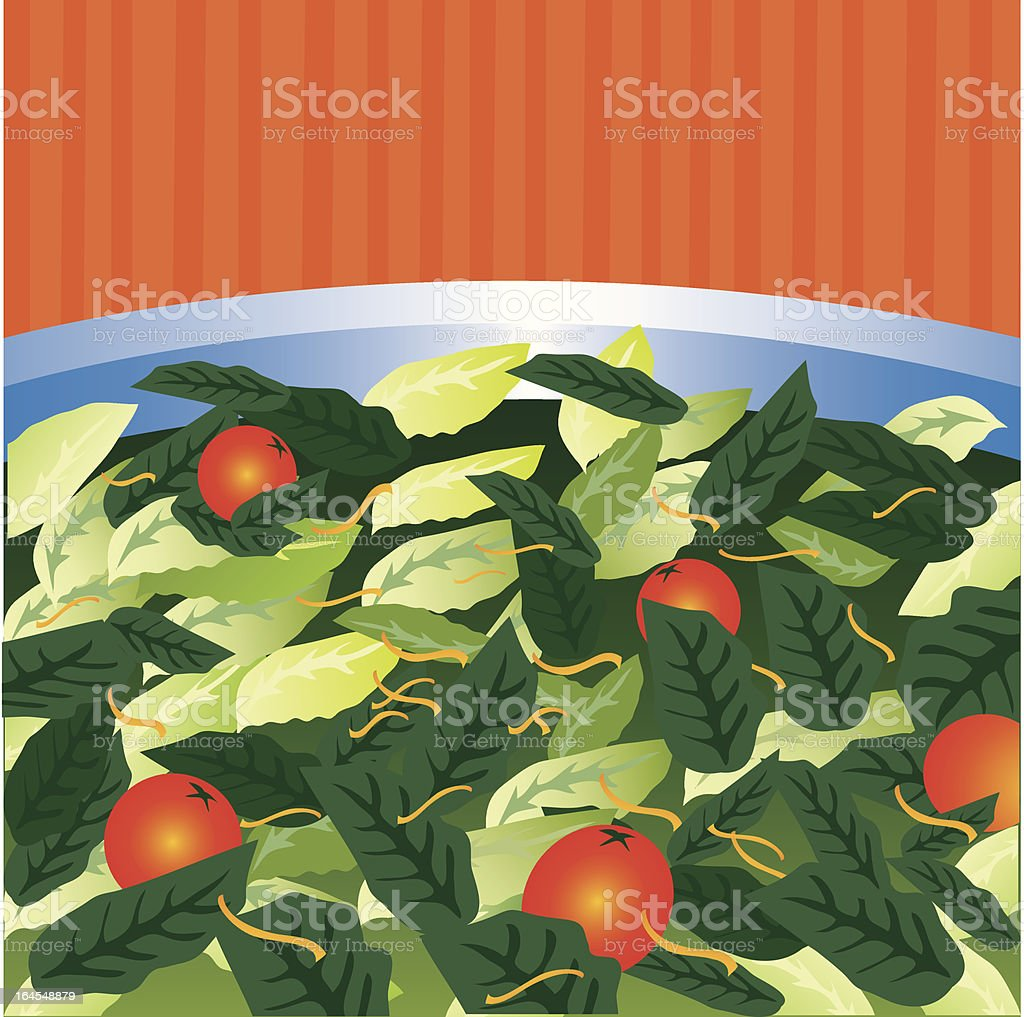 Super Salad royalty-free stock vector art