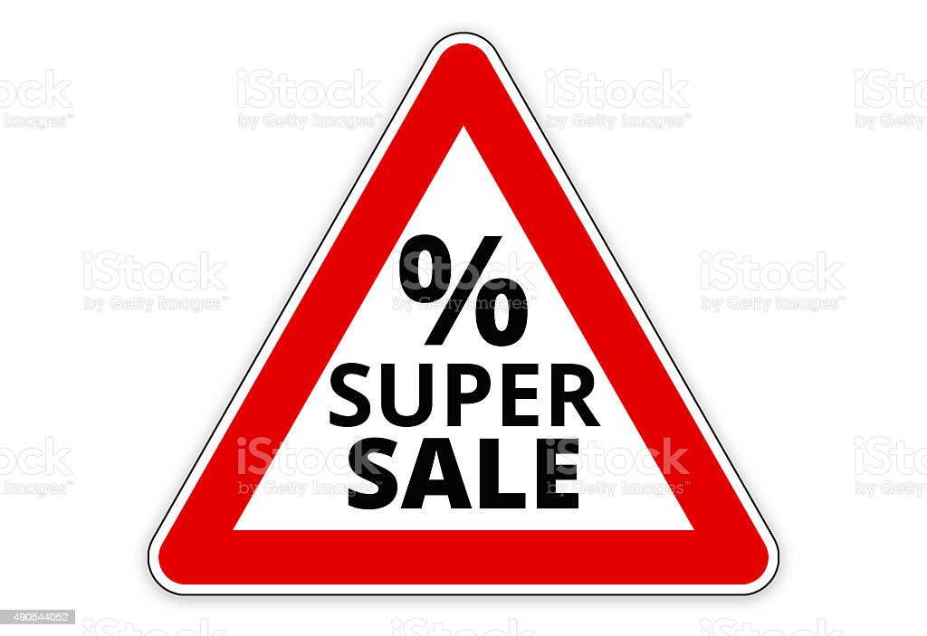 super sale percentage vector art illustration