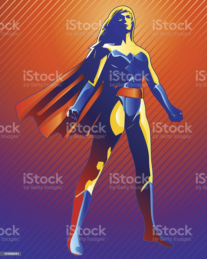 Super Woman royalty-free stock vector art
