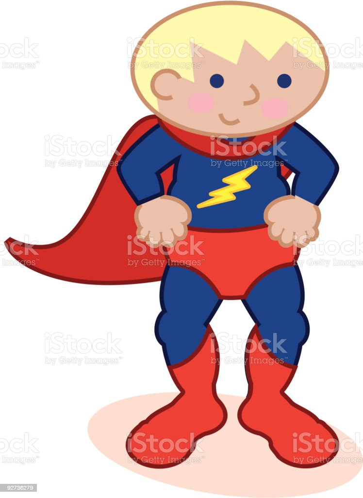 superhero costume vector art illustration