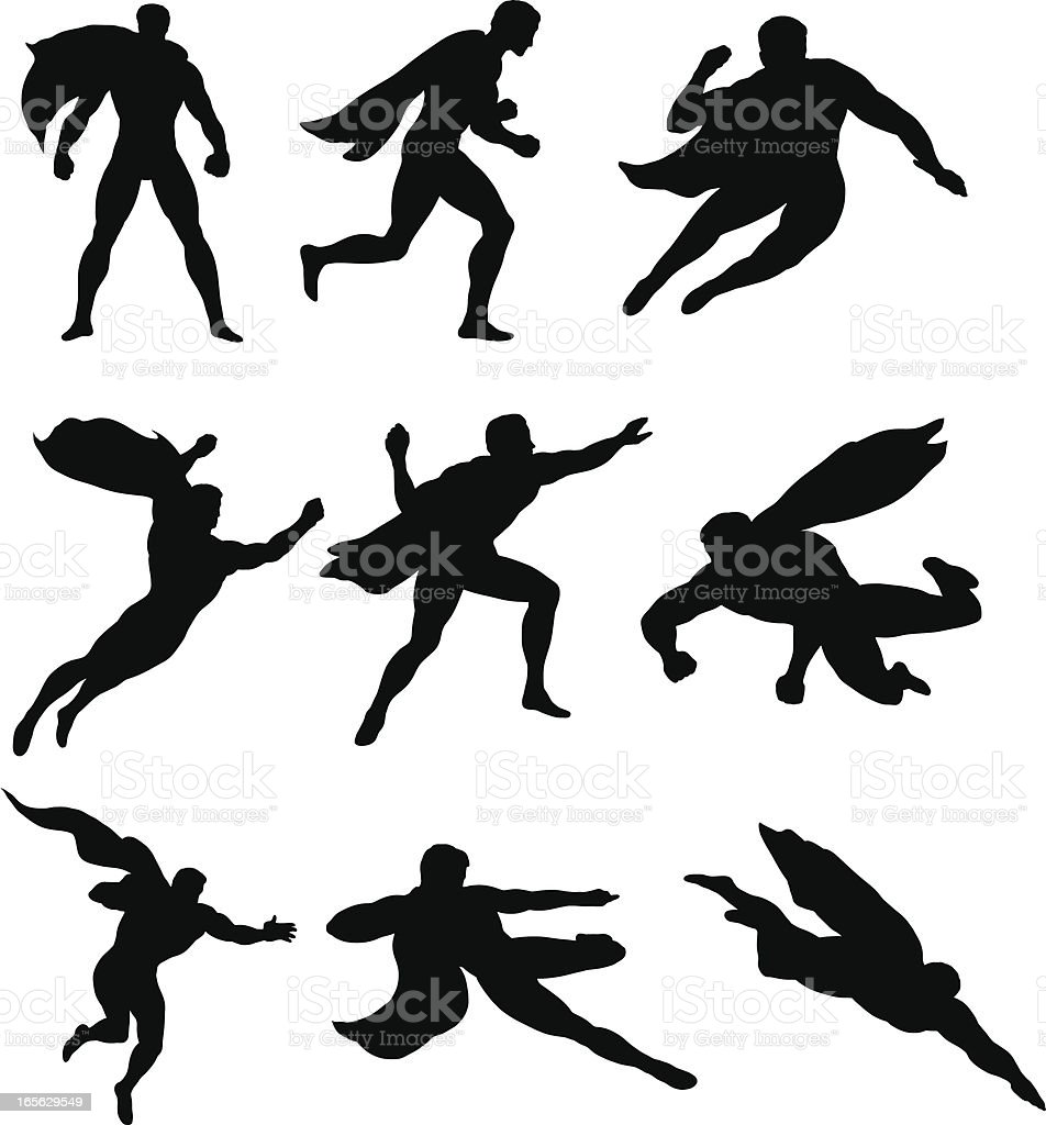 Superheros Save the Day royalty-free stock vector art