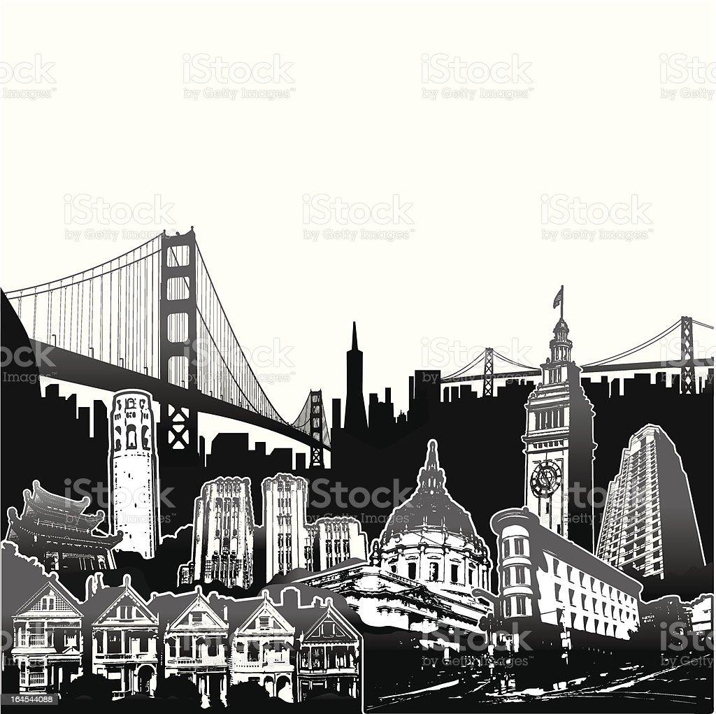 SF Superscene vector art illustration