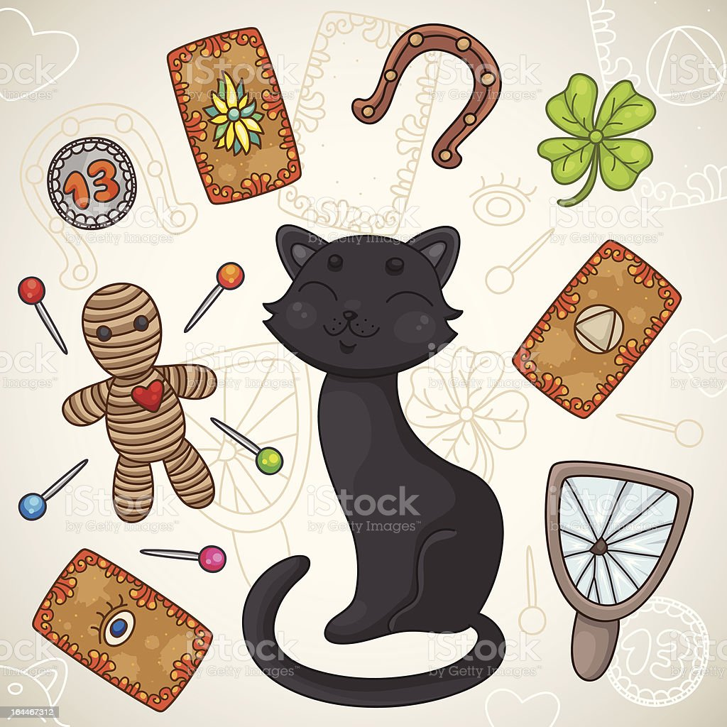 Superstition vector art illustration
