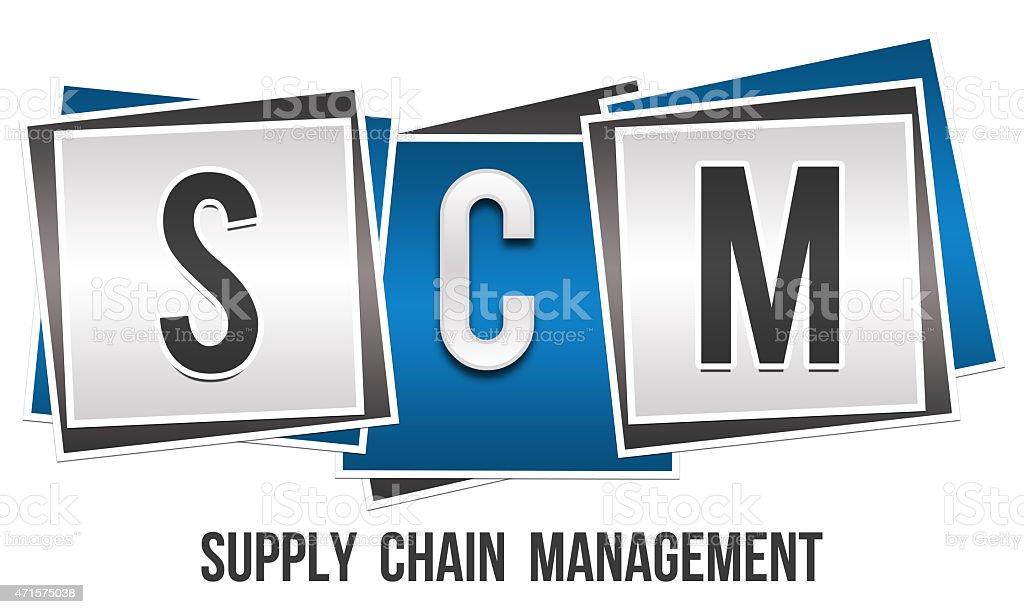 SCM - Supply Chain Management vector art illustration