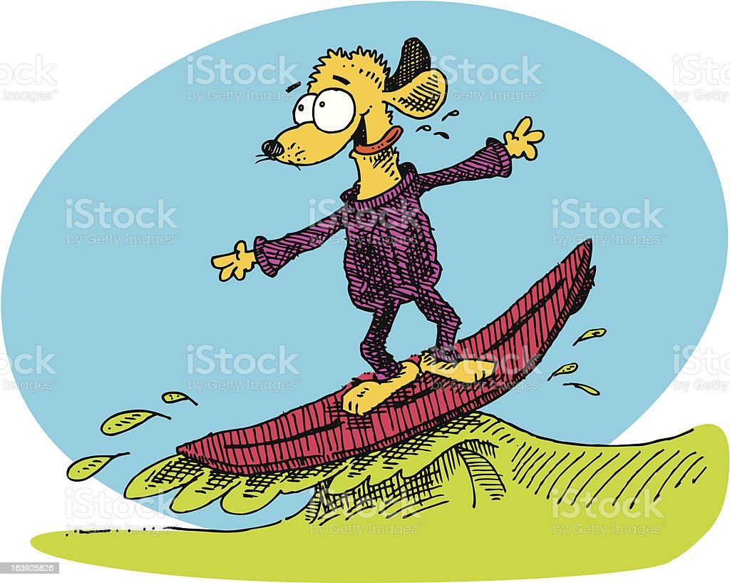 Surf Dogg... royalty-free stock vector art