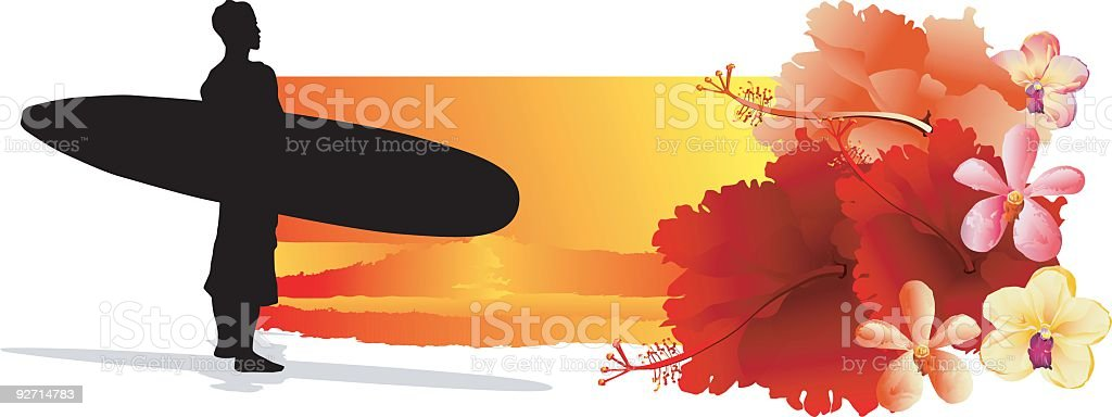SurferII royalty-free stock vector art