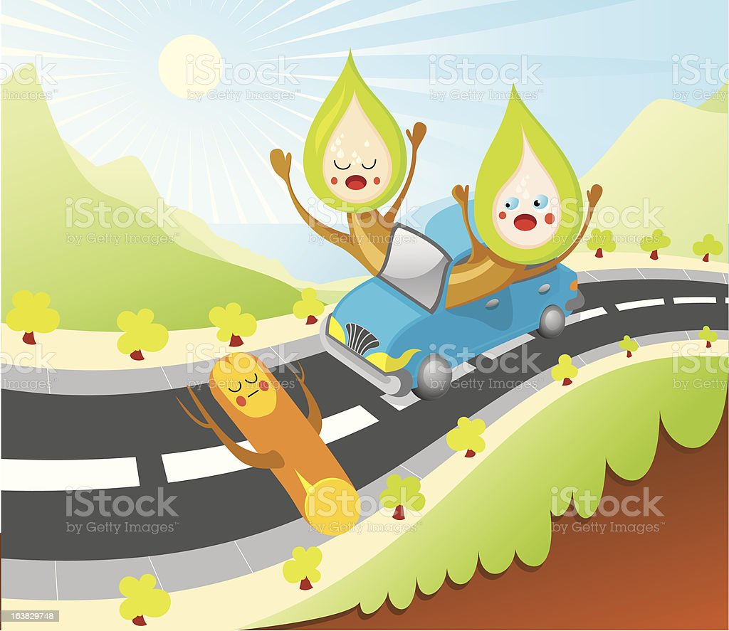 Surprise On The Road royalty-free stock vector art