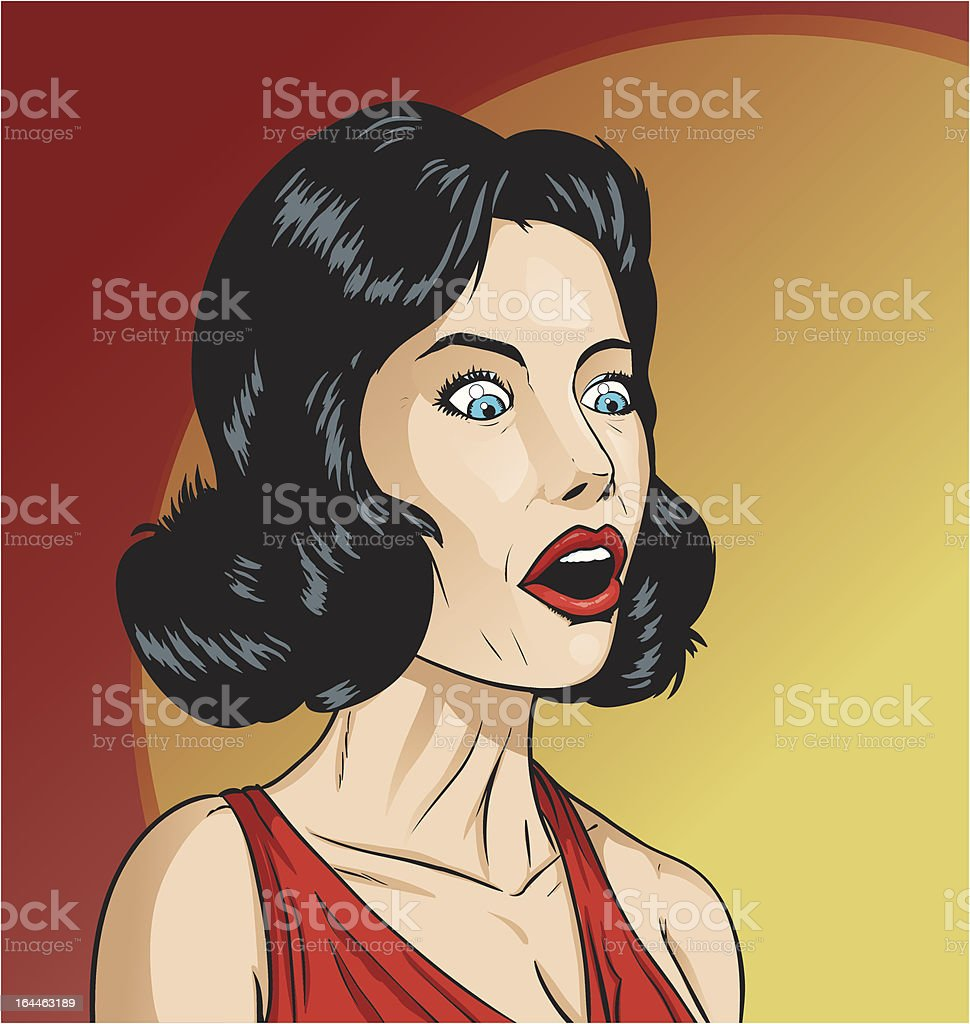 Surprised girl royalty-free stock vector art