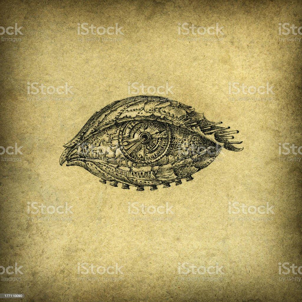 Surreal Eye vector art illustration
