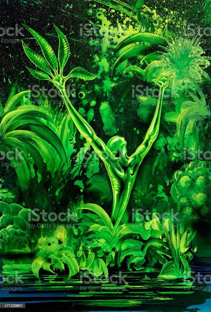 surreal green plant royalty-free stock vector art