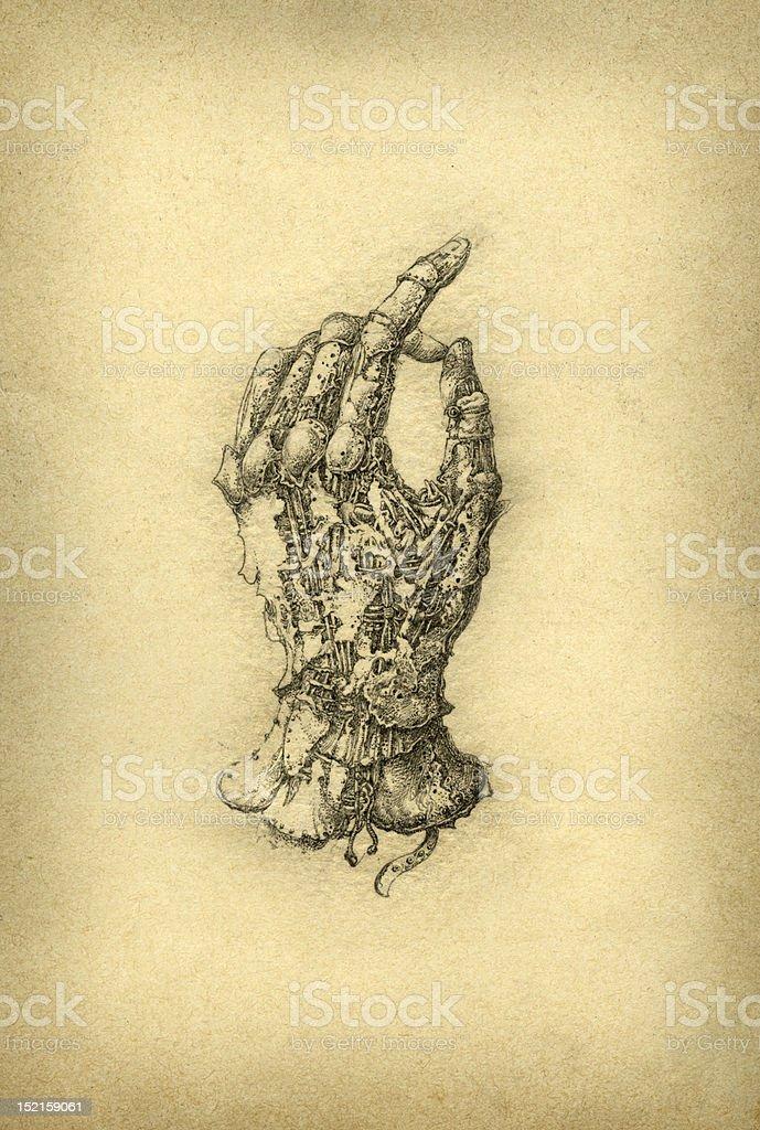 Surreal hand. royalty-free stock vector art