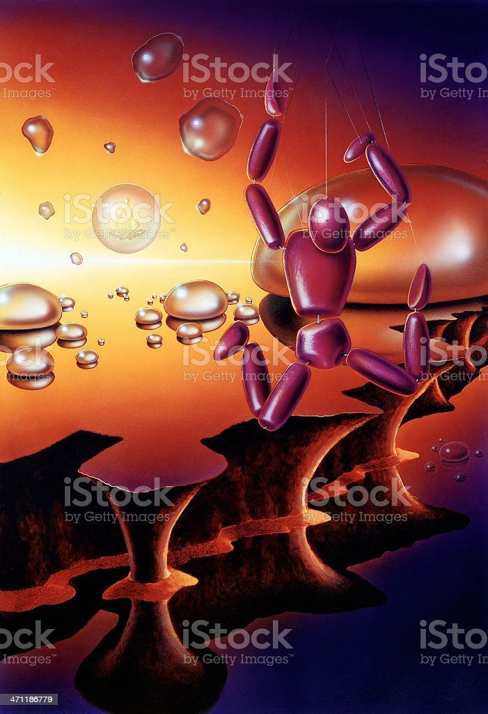 surreal marionette royalty-free stock vector art